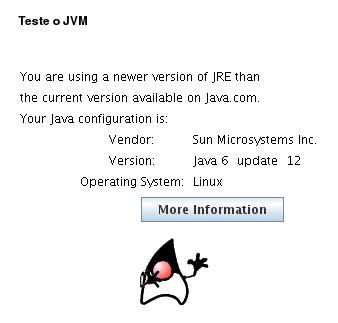 Resultado do Teste de JVM no Ubuntu 64 bits