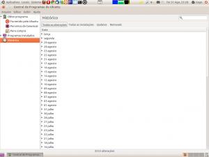 Central de Programas do Ubuntu - Histórico
