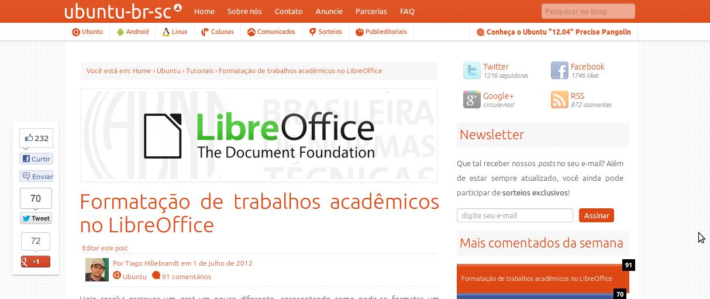 Ubuntu-BR-SC LoCo Team Blog Launches New Visual Identity